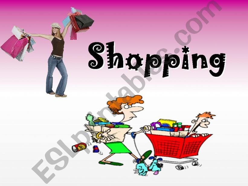 Shopping - Conversation powerpoint