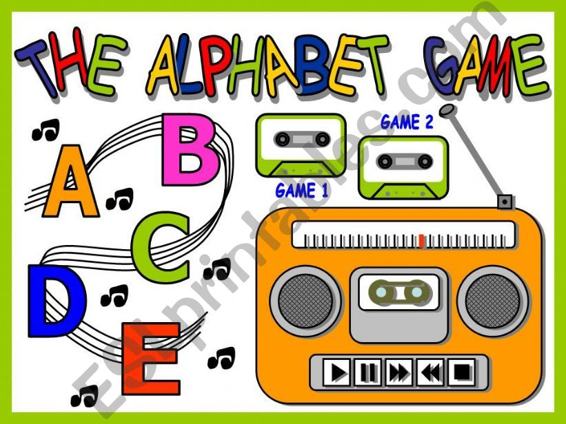 THE ALPHABET GAME (WITH SOUNDS)