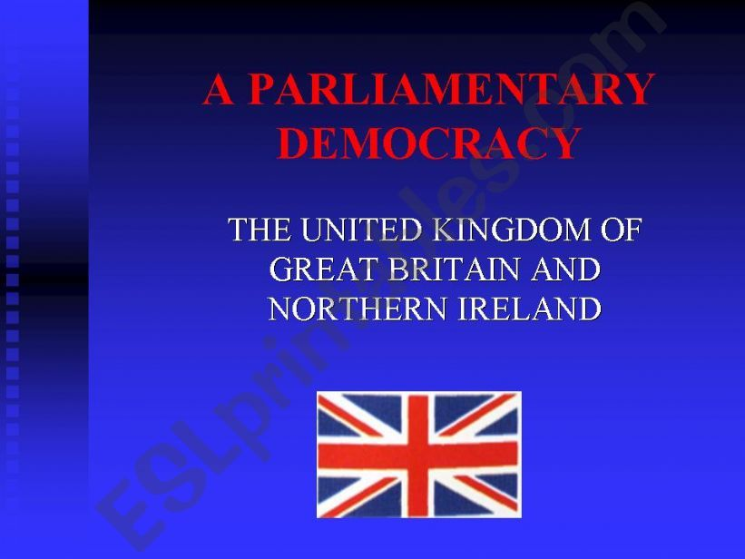 Political system of  the UK powerpoint