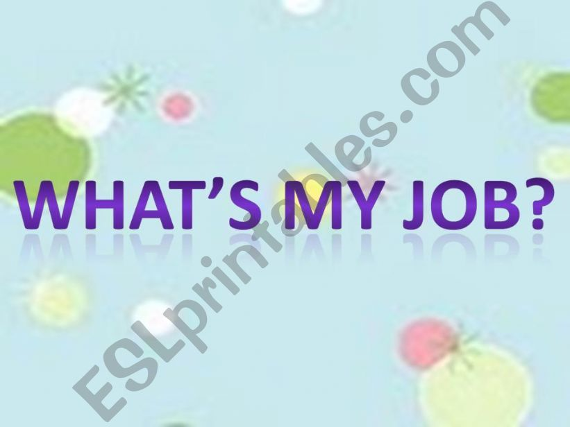what´s my job? powerpoint