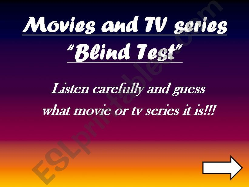 movies and TV series blind test (listening)