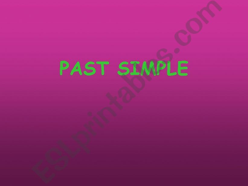 Past Simple powerpoint