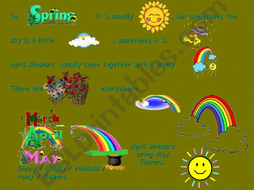 Seasons and Weather powerpoint