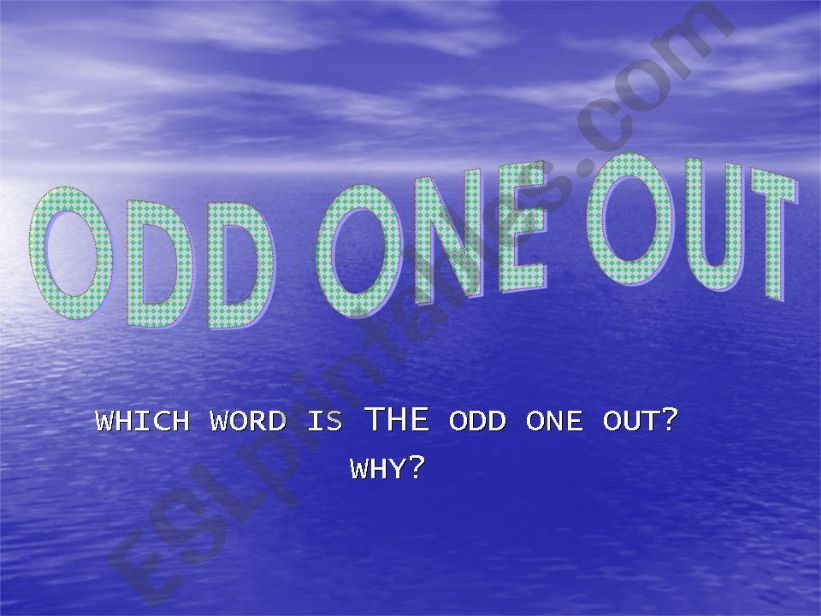 ODD ONE OUT: FOOD powerpoint