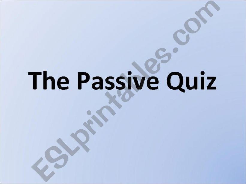 The Passive Quiz powerpoint