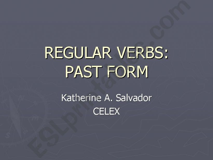 RULES TO FORM PAST OF REGULAR VERBS (IN SHORT)