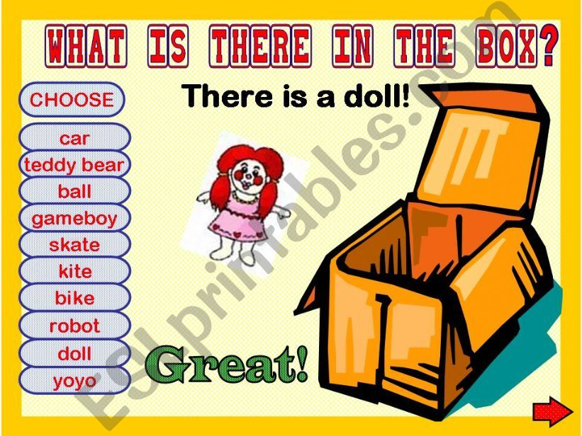 WHAT IS THERE IN THE BOX? GAME