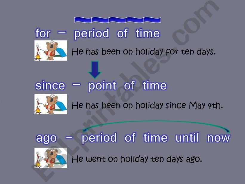 for - since - ago powerpoint