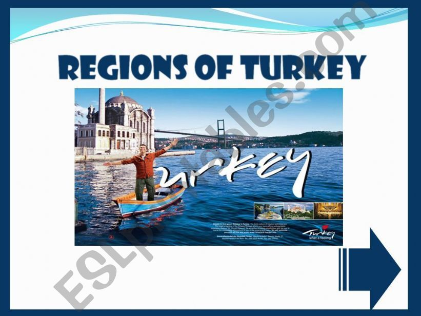 REGIONS OF TURKEY - GAME powerpoint