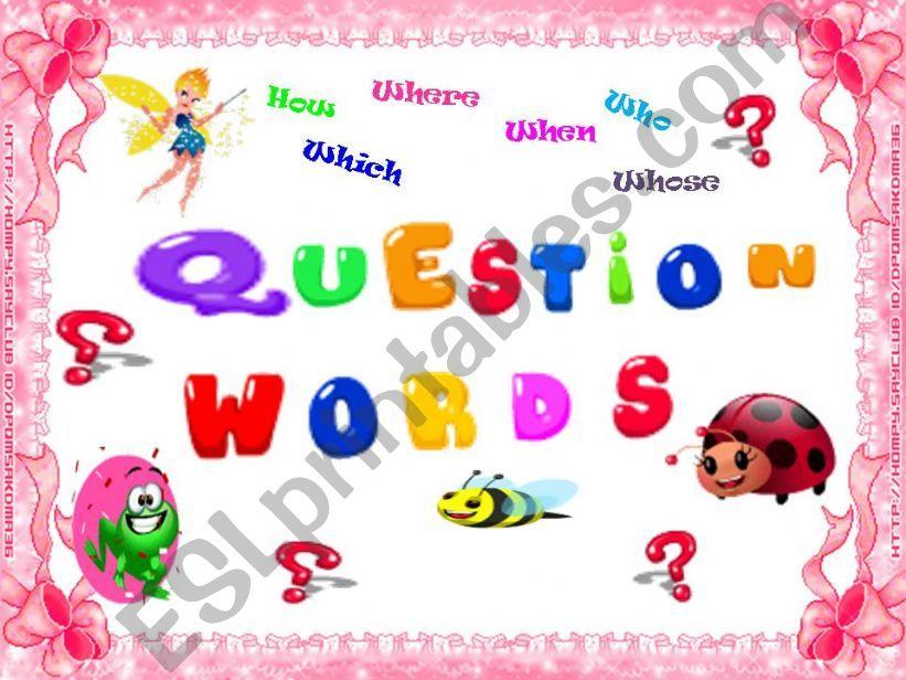 Quesiton Words ( Game / 17 slides )