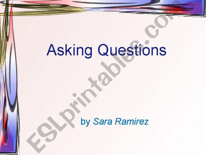 Asking Questions powerpoint