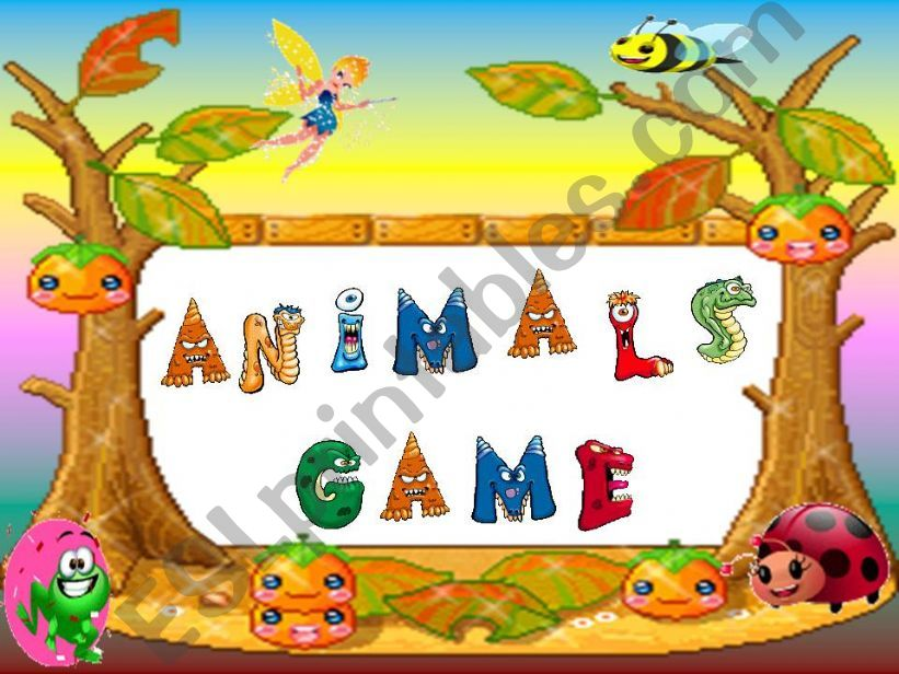 Animals Game ( 1/ 3 ) powerpoint