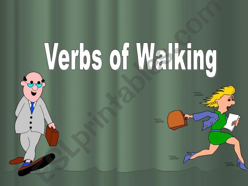 Verbs of Walking powerpoint