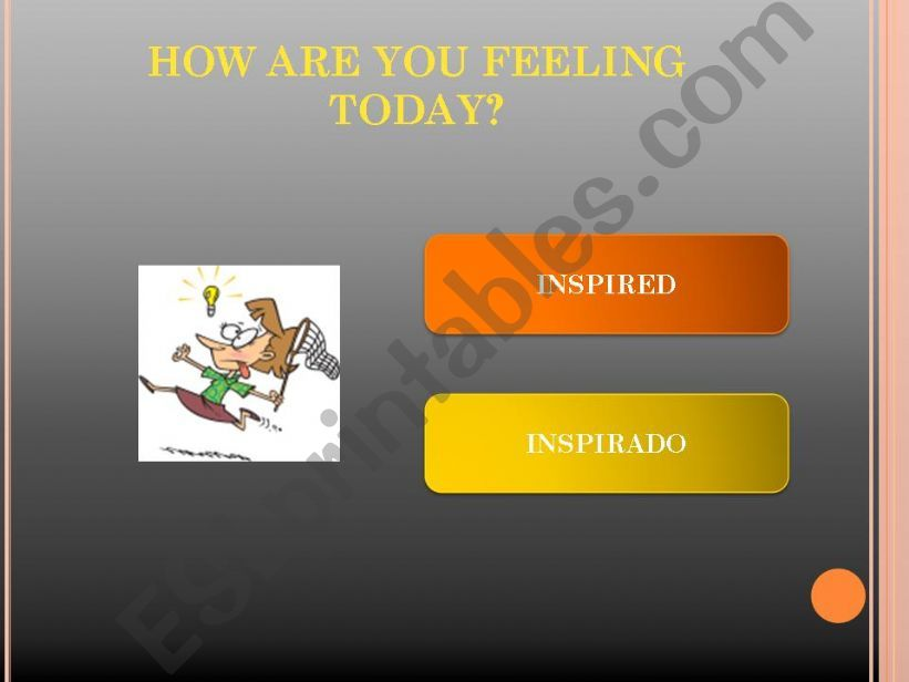 Feelings & Emotions 2/2 powerpoint