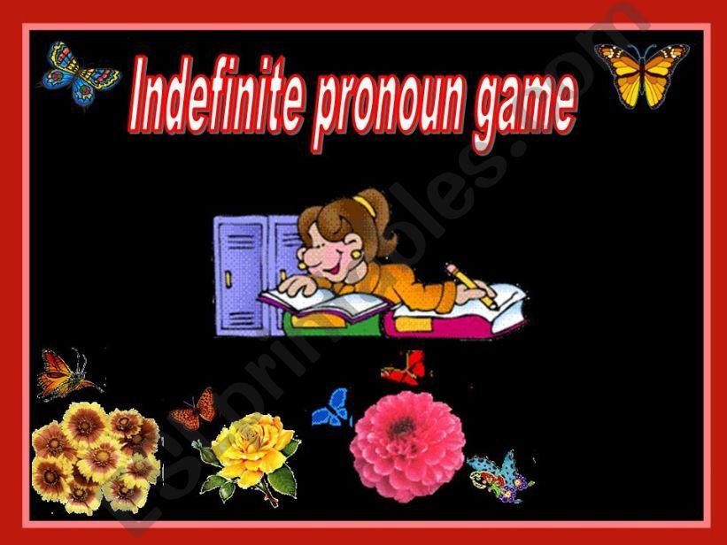 Indefinite pronoun game powerpoint