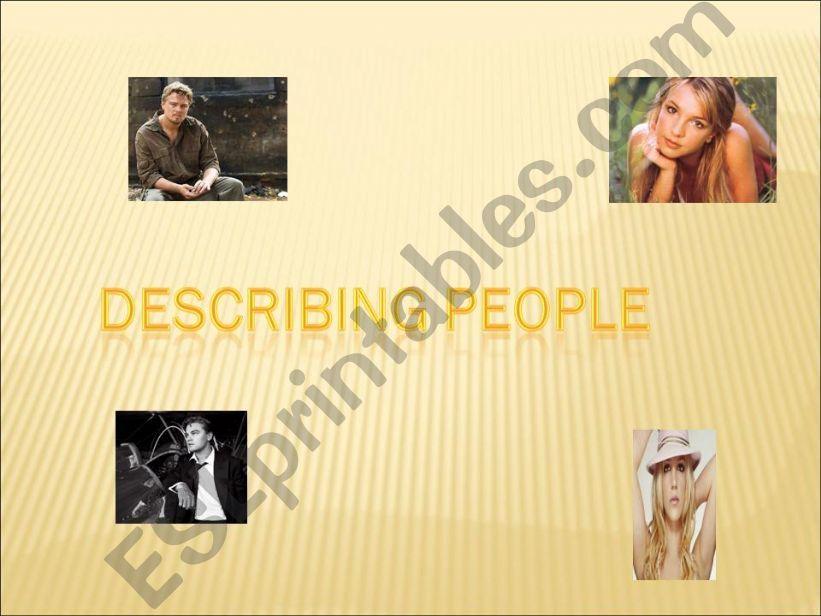 Describing people powerpoint