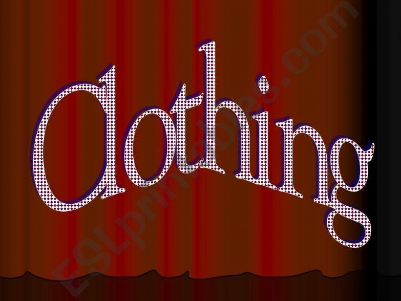 Clothing powerpoint