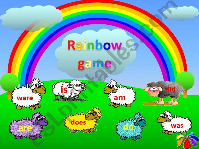 esl english powerpoints rainbow game