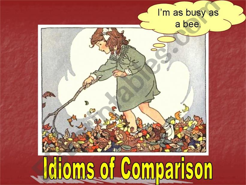Idioms of Comparison powerpoint