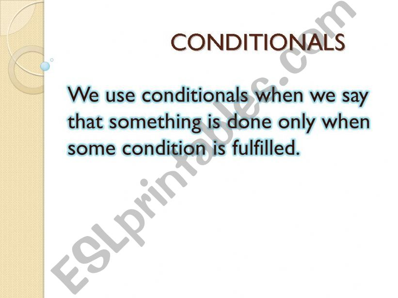 If conditionals powerpoint