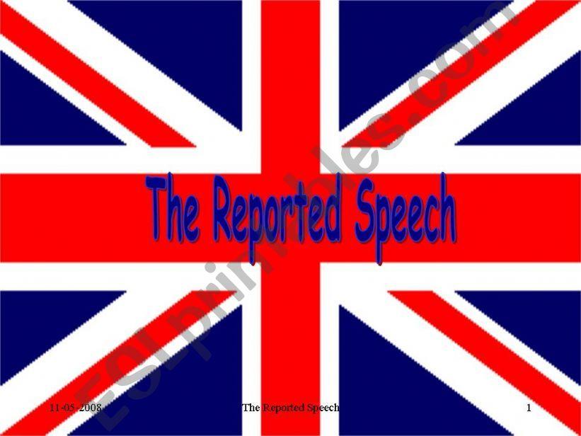 Reported Speech powerpoint