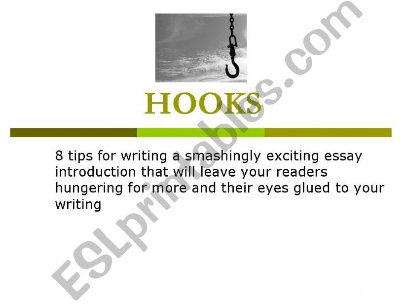 Hooks for expository essays