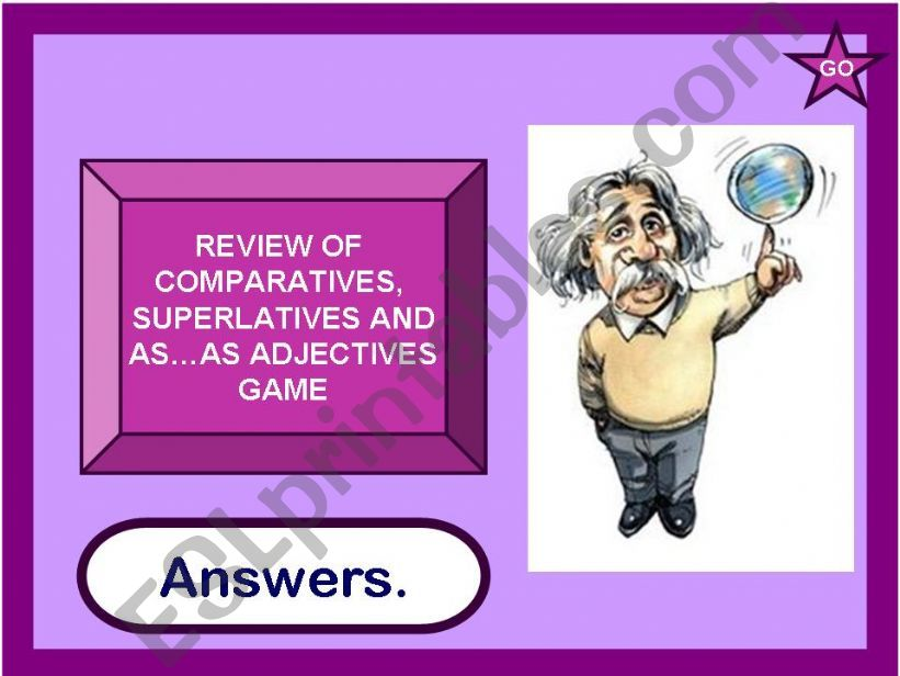 Review of comparatives,superlatives,as...as adjectives game(28.07.2010)