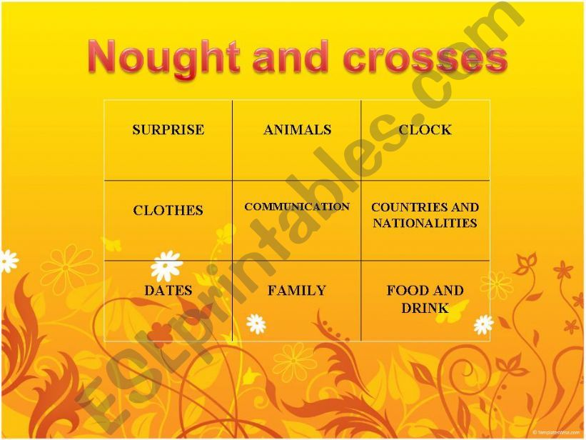 NOUGHTS AND CROSSES game  VERSION 1 (fully editable !  !!! )