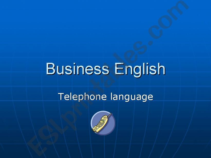 business english powerpoint