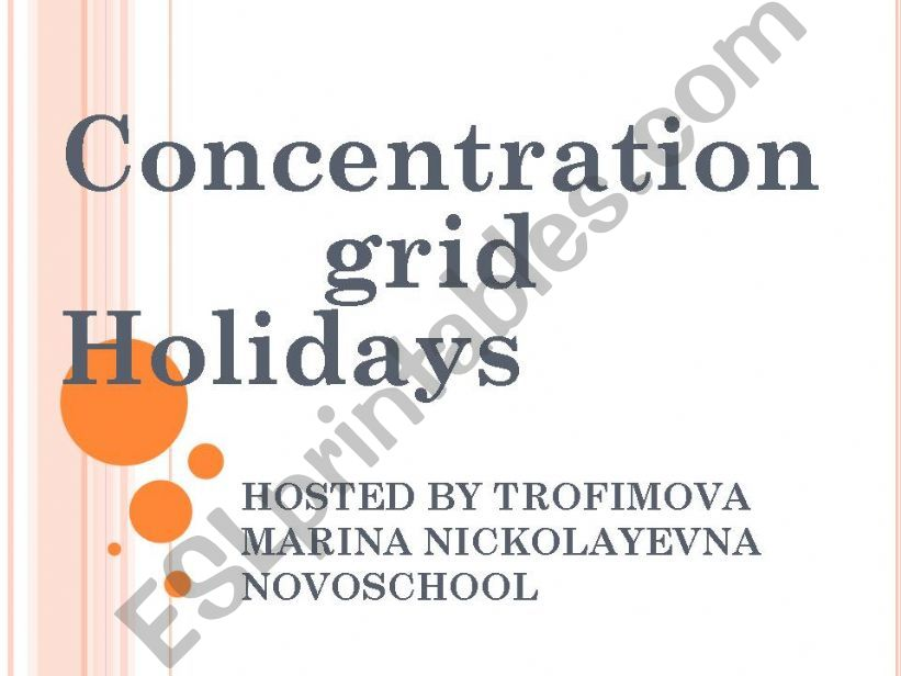 Concentration Grid powerpoint
