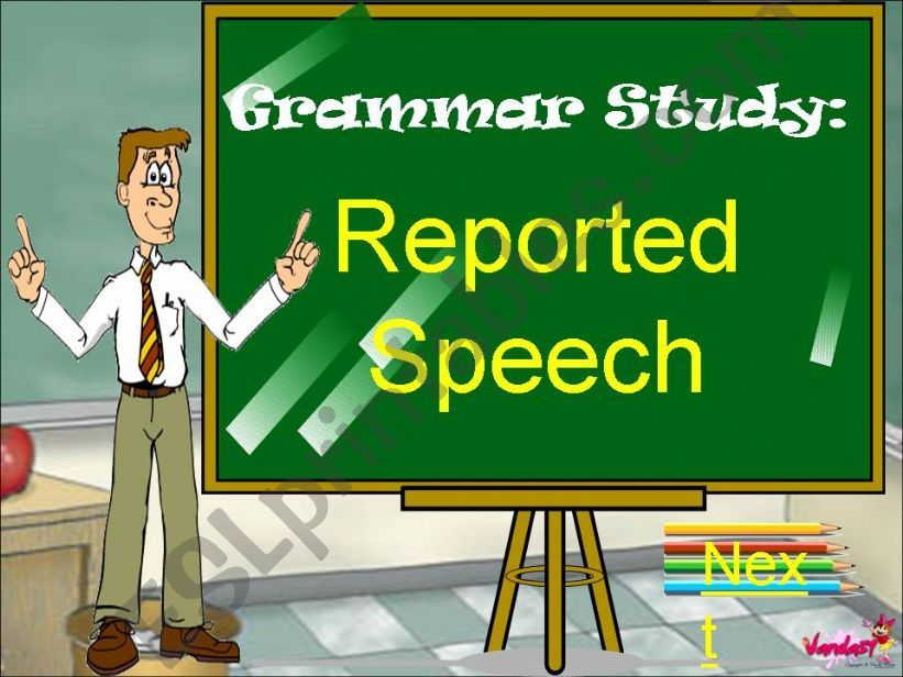 Reported speech powerpoint