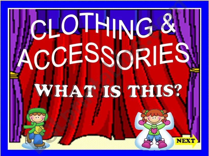CLOTHING & ACCESSORIES powerpoint