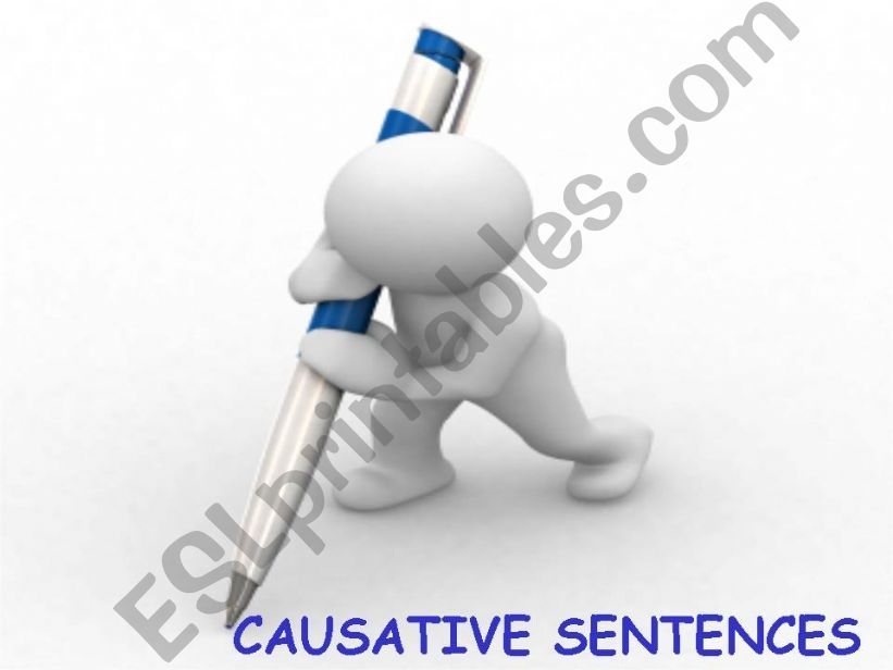 Causative sentences powerpoint