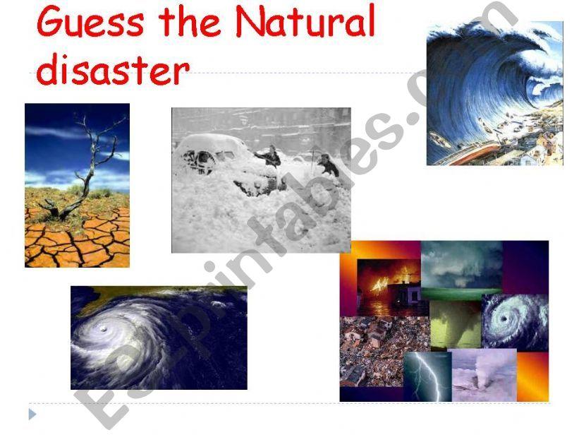 GUESS THE NATURAL DISASTER MATCHING WORKSHEET