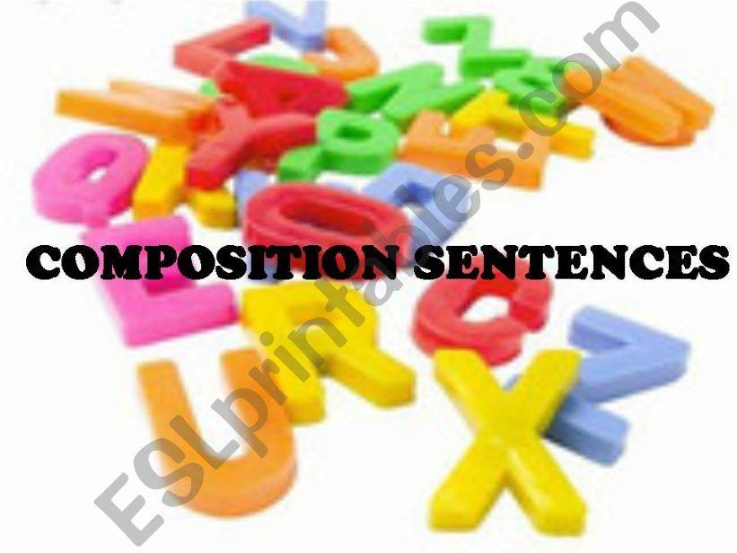 Composition sentences powerpoint