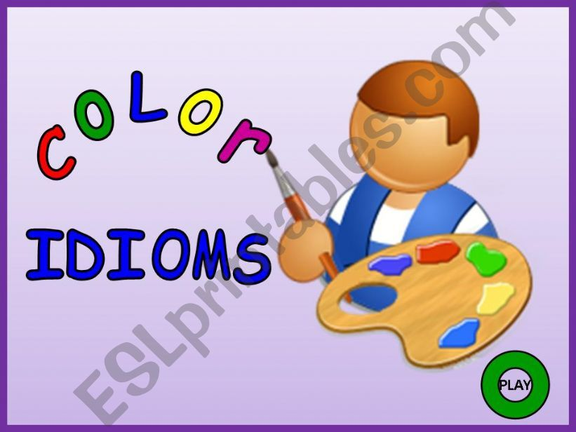 Color Idioms - Part 01 powerpoint