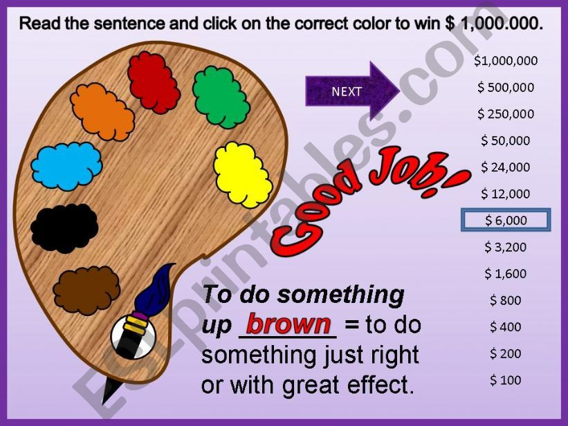 Color Idioms - Part 02 powerpoint