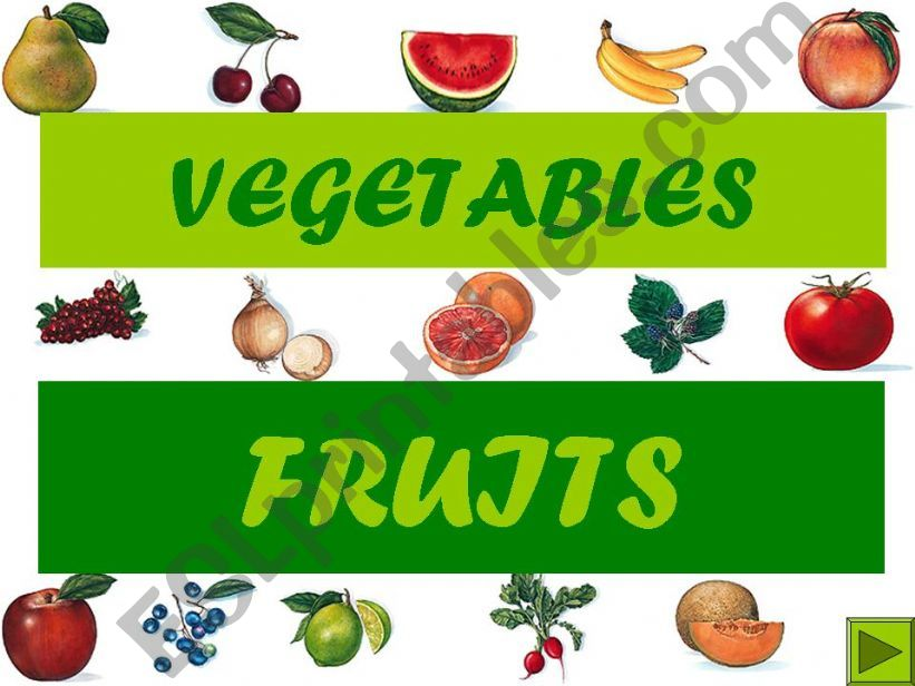 Vegetables and fruits powerpoint