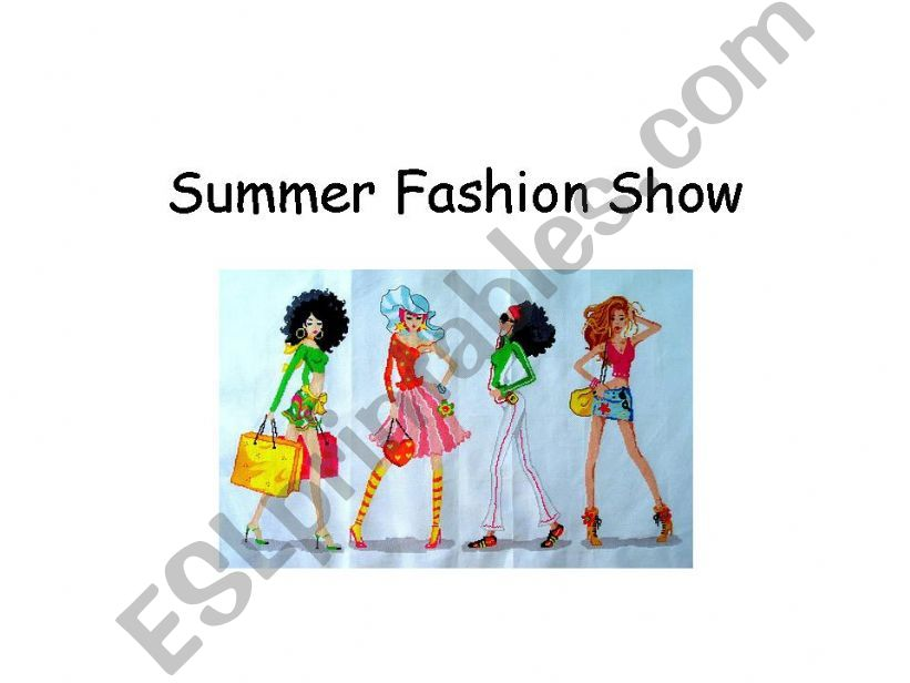 Summer Fashions powerpoint