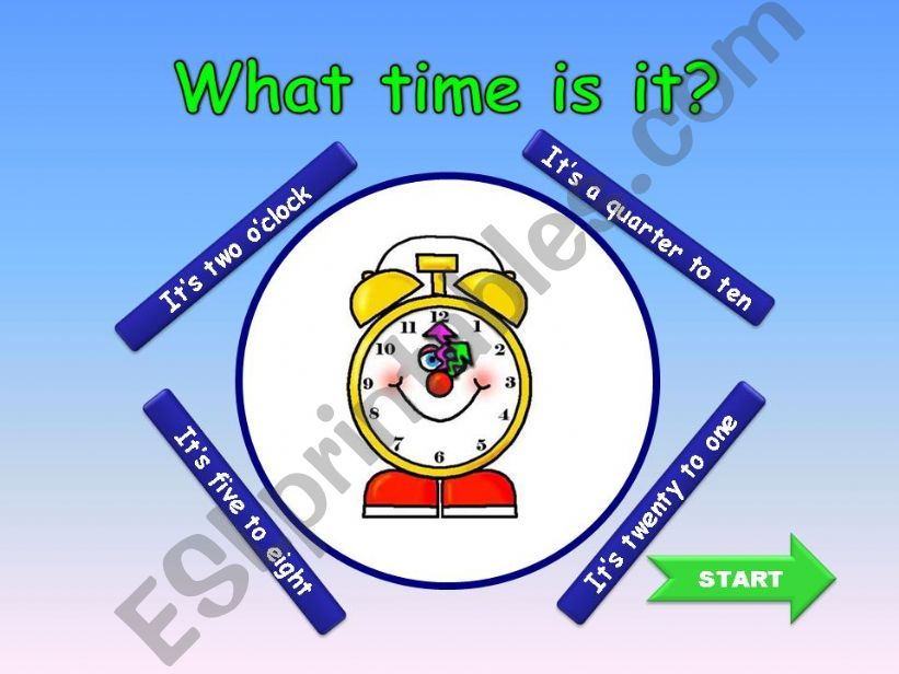 What time is it? GAME powerpoint