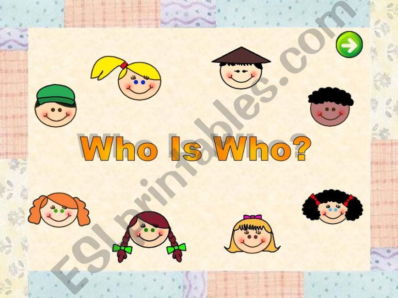 Who is who? powerpoint