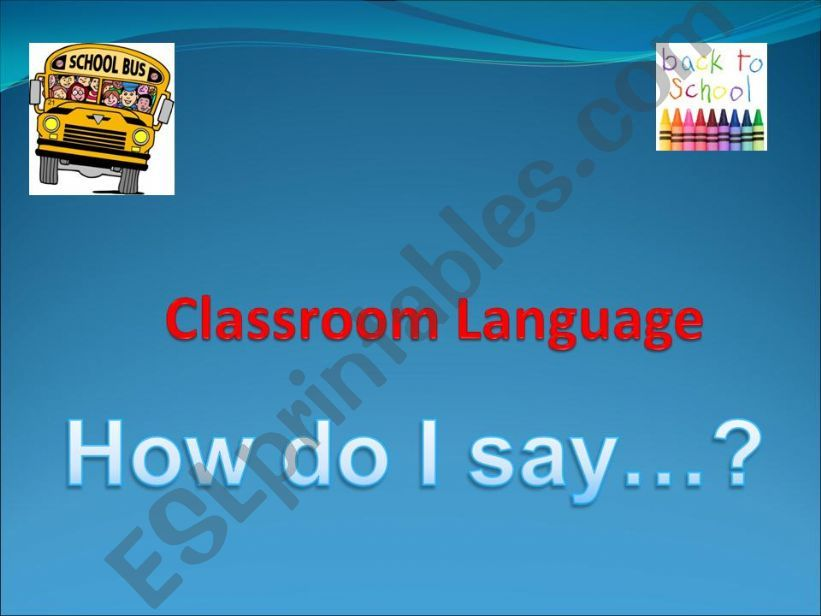 Classroom language powerpoint