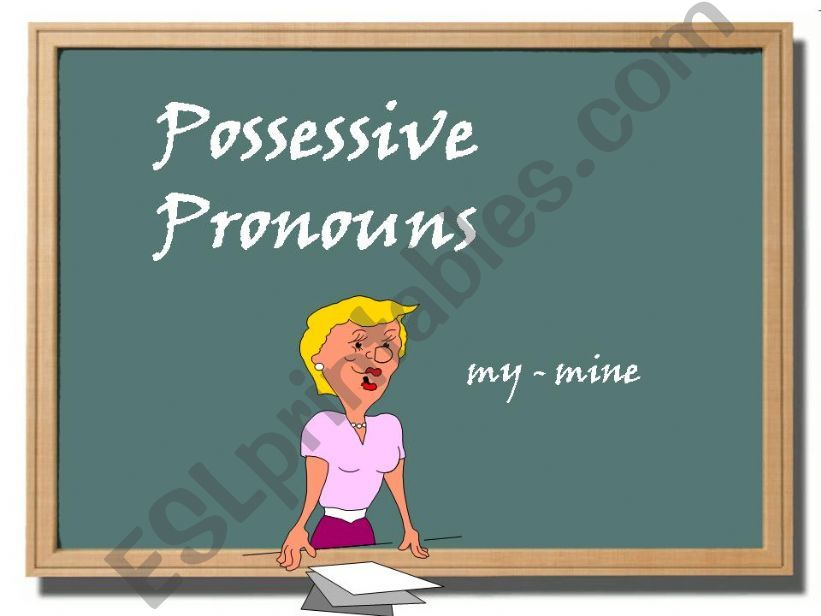 Possessive Pronouns powerpoint