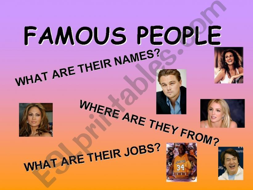Famous people powerpoint
