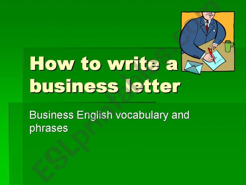 business letter powerpoint