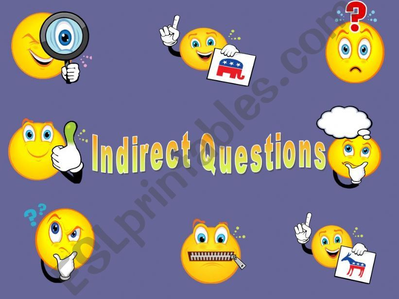 Indirect Questions powerpoint