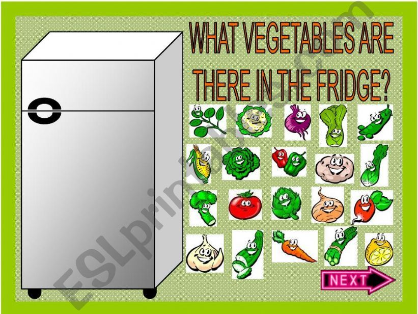 WHAT VEGETABLES ARE THERE IN THE FRIDGE? (PART 1)