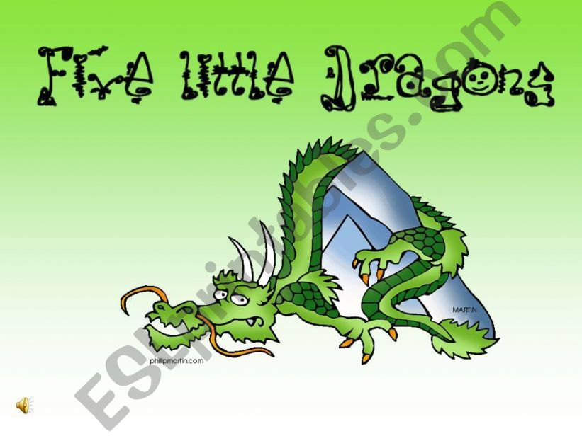 Five Little Dragons nursery rhyme song
