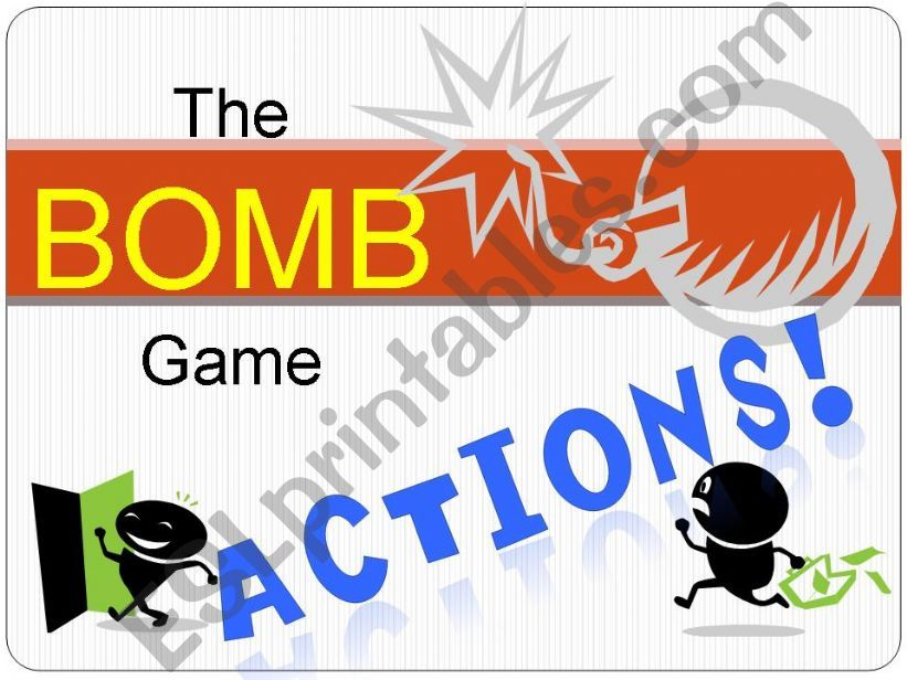 BOMB! Game - ACTIONS powerpoint