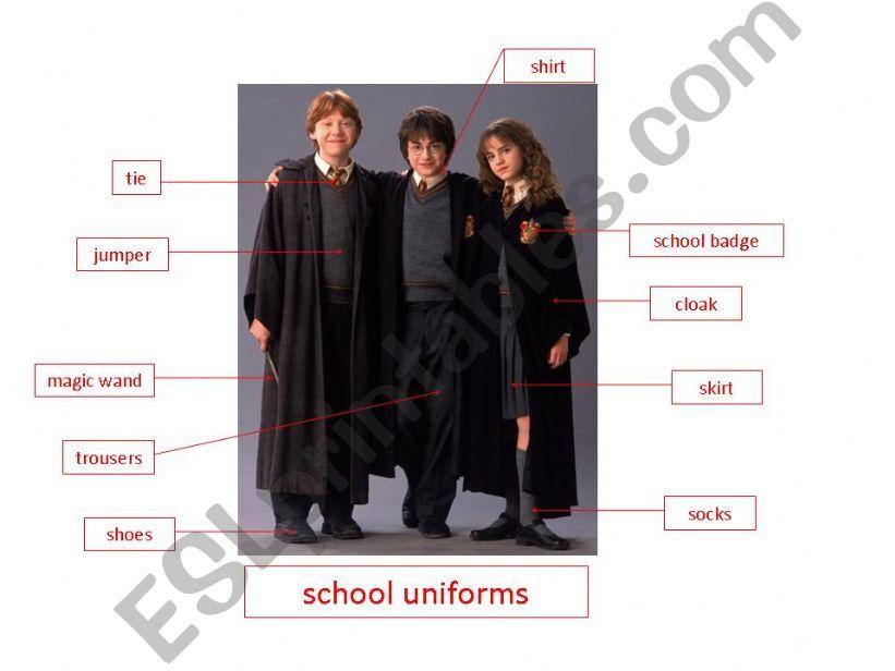 school uniform powerpoint